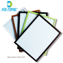 Купить с кэшбэком XINDI 30*40cm New 5 Colors MDF Magnetic Whiteboard Wood Frame Memo Message Dry Erase Writing Board With Free Accessories WB23