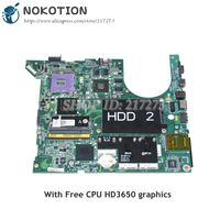 NOKOTION For Dell Studio 17 1735 Laptop Motherboard CN 0NU324 0NU324 MAIN BOARD 965PM DDR2 HD3650 Free CPU