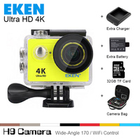 Free Shipping 100 Original Ultra HD 4K Video 170 Degree Wide Angle Sports Camera 2 Inch