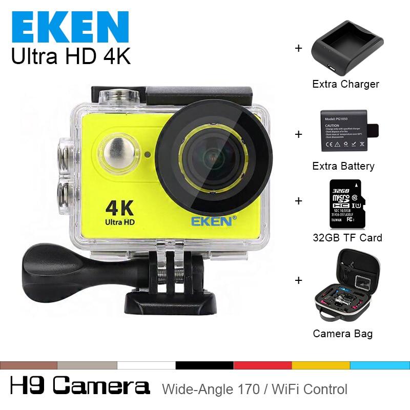 100% Original EKEN H9 Ultra HD 4 K Cámara de Deportes de Acción de Vídeo Ángulo