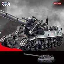 IN STOCK XINGBAO 06001 1389Pcs Creative MOC Military Series The T92 Tank Set Education Building Blocks