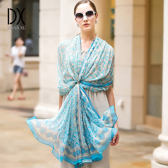 Bufanda de seda 100% para mujer Escudo de cara chal grande de seda Pashmina playa manta bufanda marca de lujo India musulmán Hijab Foulard Wrap