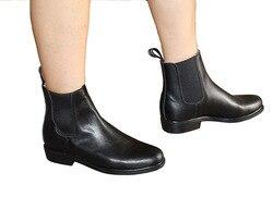 Aoud selley bottes d'équitation en cuir bottes équestres de haute qualité chaussures classiques pour hommes femmes et enfants