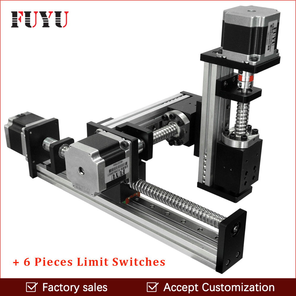 Free shipping CNC screw drive XYZ linear stage table slide motion system for laser cut 500*500*500mm strokeFree shipping CNC screw drive XYZ linear stage table slide motion system for laser cut 500*500*500mm stroke