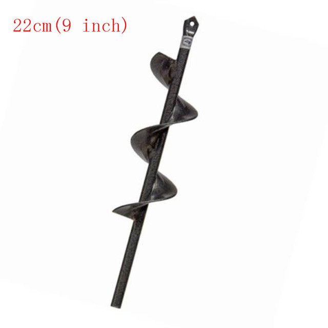 Flower Bulb Shaft Drill Power Planter  Non-Slip -1.75 by 9 / 18 inch - Bulb Bedding Plant Auger