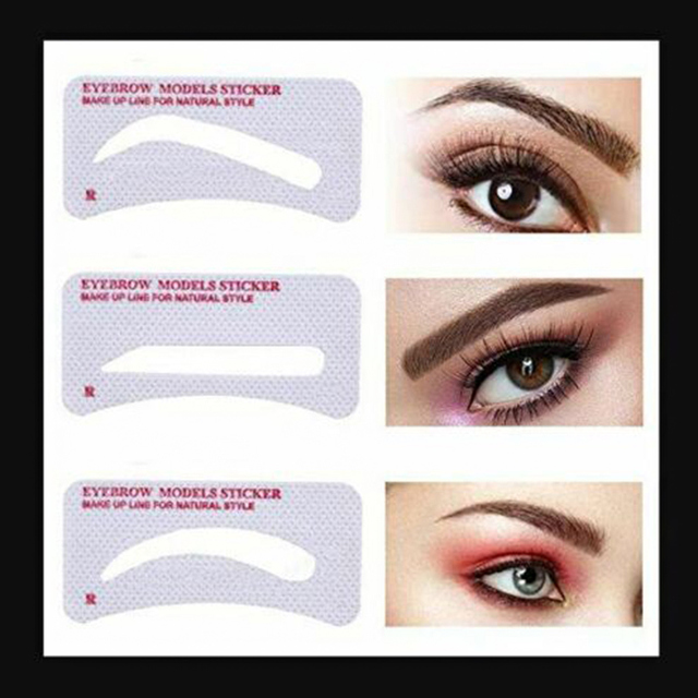 24 Pcs Pro Reusable Eyebrow Stencil Set Eye Brow DIY Drawing Guide Styling Shaping Grooming Template Card Easy Makeup Beauty Kit 1
