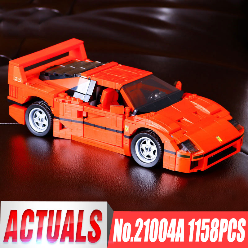 Yile 21004 Technic Series New Toys For Kids Compatible with Legoing 10248 Red F40 Race Car Set Building Blocks Bricks Car Models