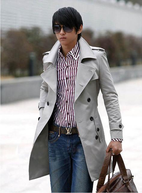 Trincheira 2016 outono e inverno fino tendência de médio longo dos homens de roupas outerwear masculino trincheira masculino frete grátis