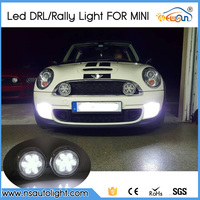 Free Shipping 2pcs Lot 18w LED Drl Light For Mini Cars LED DRL Waterproof 12V LED