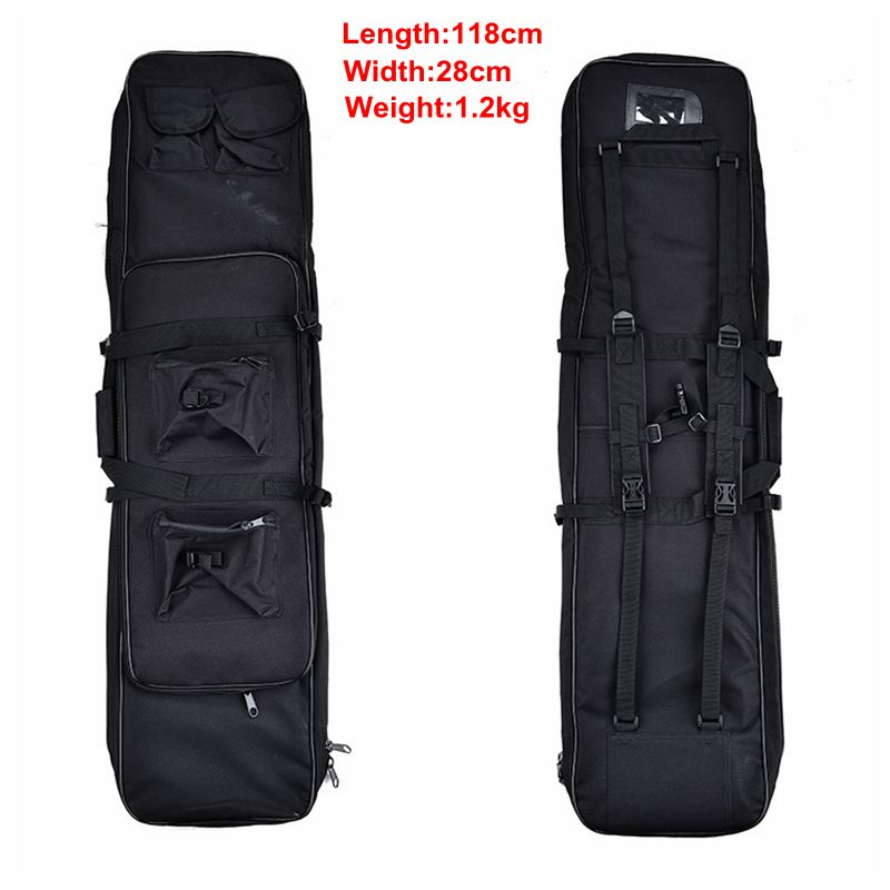 Outdoor Hunting Military Airsoft Sports 118CM Tactical Gun Bag Square Carry Bag Protection Bag Case Camping War Game Backpack