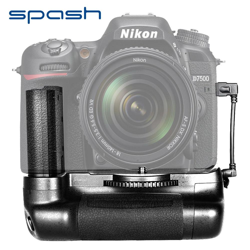 spash Multi-Power Vertical Battery Grip for Nikon D7500 DSLR Cameras Battery Holder Work with EN-EL15 Professional Accessories