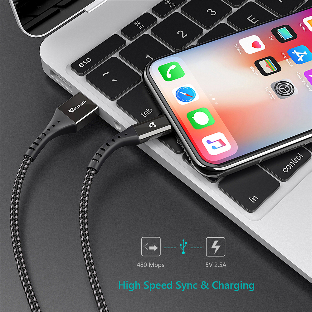 TIEGEM USB Cable For iPhone X XS MAX XR 8 7 6 5 S plus Cable Fast Charging Cable Mobile Phone Charger Cord Usb Data Cable 2M 3M Mobile Phone Accessories Mobile Phone Cables Smartphones