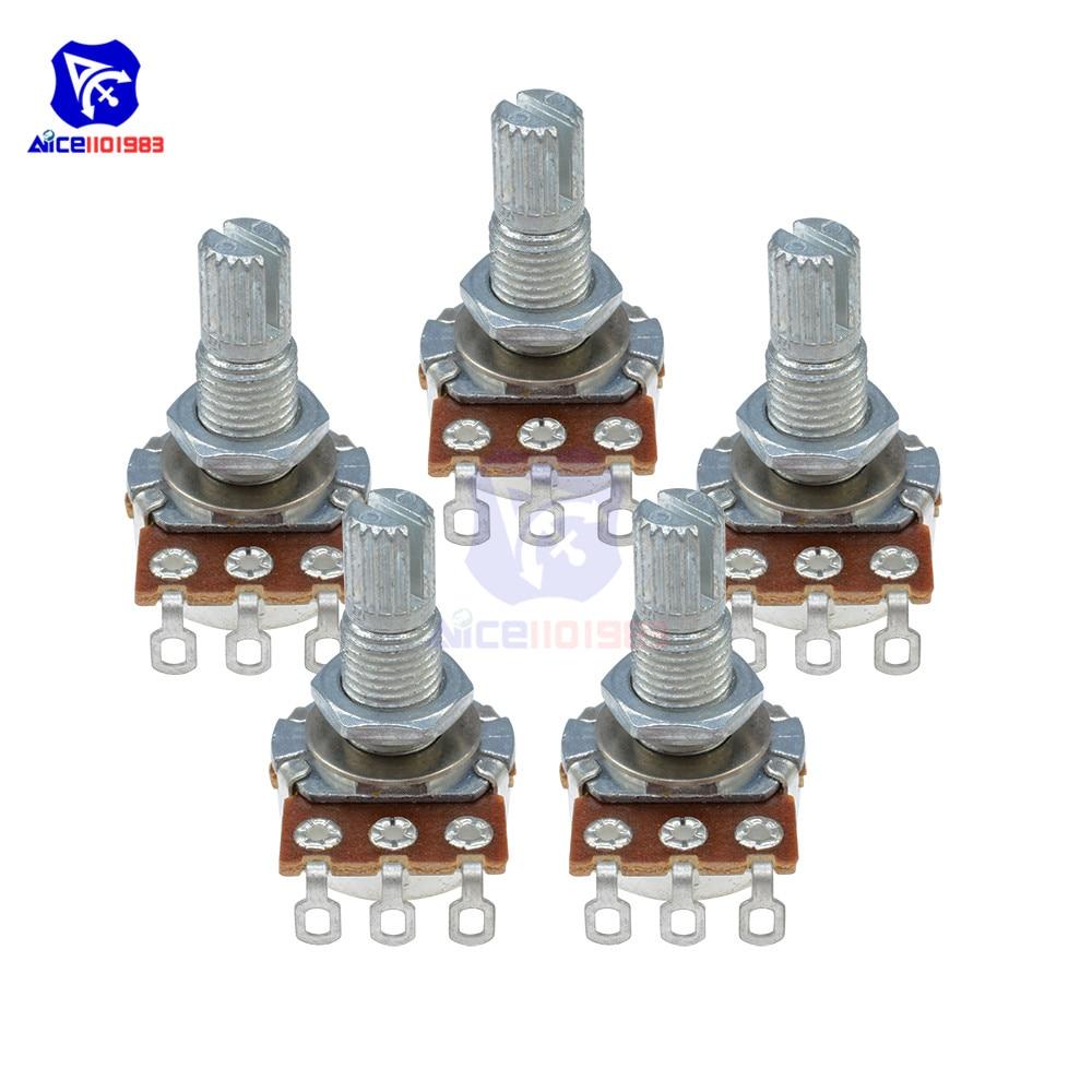 5PCS/Lot Guitar Potentiometer Resistor B500K Ohm 3 Pin Linear Taper Rotary Potentiometer For Electric Guitar