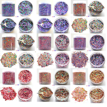 50g/bag Nail Glitter 28 Colors Powder Decoration For 1bag*50g Flakes Accessories Glitter#MD17