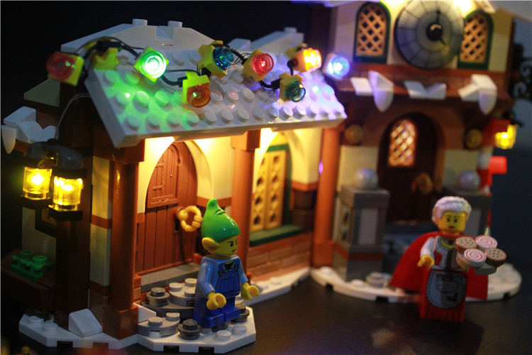 LED Light Up Kit For Santa's Workshops Creator Series Lighting Set Compatible With Lego 10245