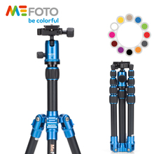 MeFOTO A0350Q0 BackPacker Travel Tripod Kits Aluminum Professional Camera Holder Tripods  Ball Head 5 Section Tripe Bag 12 Color