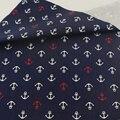 Темно-синий морской анкер  хлопковая ткань  пестрая стеганая швейная ткань  поделки  постельные принадлежности  Teramila ткань  домашний тексти...