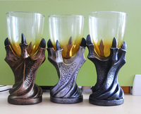 Creative Whiskey Beer Wine Glass 3D Dragon Claw Goblet Glass Creative Festival Gift Personality Drinkware