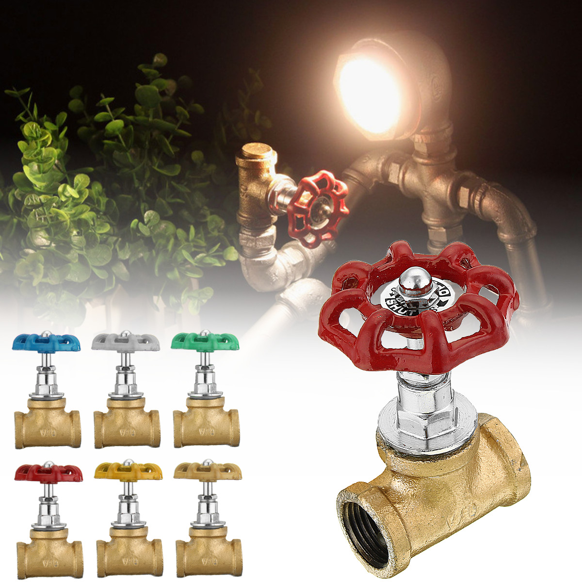 Industrial Lamp Stop Valve Light Switch For Steampunk Lamp ...