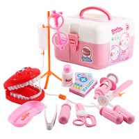 15Pcs Children Pretend Play Doctor Toys Simulation Dentist for Kids Toddler Learning Kits Development Doctor Interest Set
