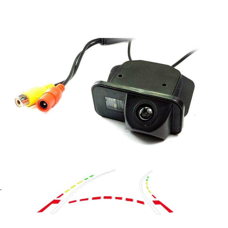 Otomobiller ve Motosikletler'ten Araç Kamerası'de CCD HD araba Arka ters kamera TOYOTA Corolla 2007 ~ 2011 Tarago/Previa/İstek Alphard/HILUX VIGO kamera Dinamik yörünge title=