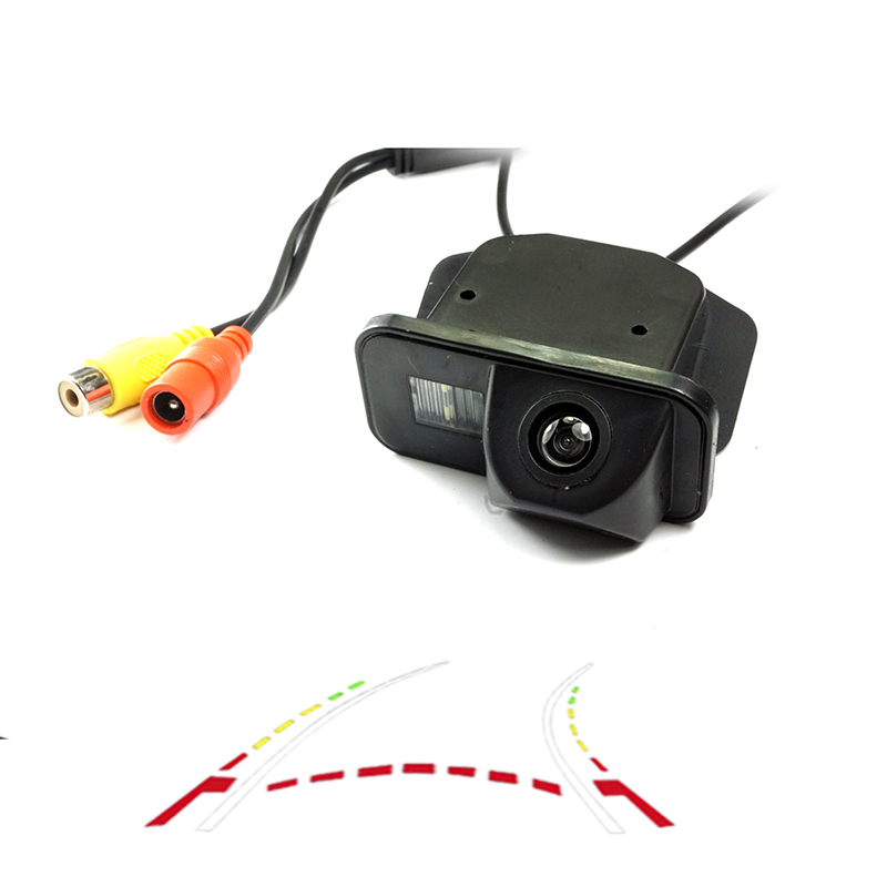 CCD HD Car Rear Reverse Camera For  TOYOTA Corolla 2007~2011 Tarago/Previa/Wish/Alphard HILUX VIGO Camera Dynamic Trajectory