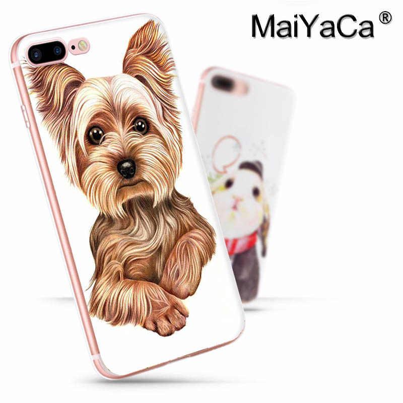 Maiyaca yorkshire terrier cão mais novo moda de luxo caso telefone para apple iphone 11 pro 8 7 66 s plus x 5S se xs xr xs max capa
