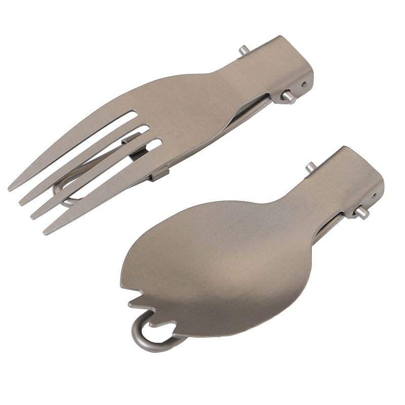 EDC Outdoor Mini Portable Useful Titanium Spoon Fork Lightweight Camping Backpacking Cutlery Sport Fork Spoon 2018 цена