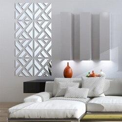 Novo adesivos de parede grandes 3d adesivos decorativos vivendo em casa acrílico moderno grande espelho padrão superfície diy real
