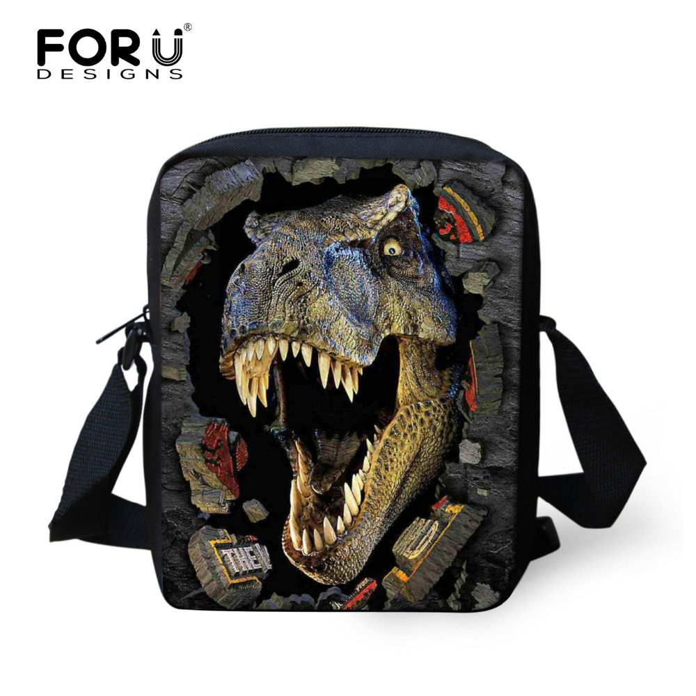 Cool Dinosaur School Bags for Boys 3D Animals Jurassic World Printed Schoolbag Children Mochila Kids Small Shoulder Book Bag