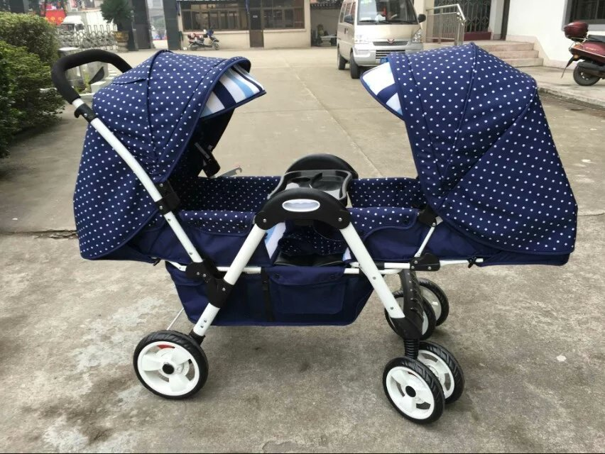 цена на baby stroller high landscape stroller face to face can sit lying lightweight folding stroller high quality twins stroller