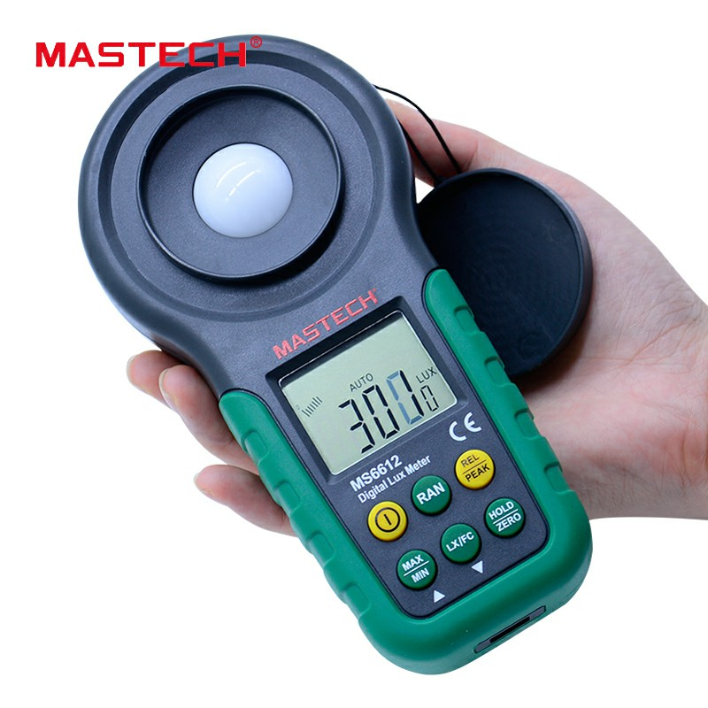 MS6612S Lux meter MASTECH brand 200,000 Lux Light Meter Test Spectra Auto Range High Precision Digital Luxmeter Illuminometer mastech ms6612 lux meter 200 000 lux light meter test spectra auto range high precision digital luxmeter illuminometer