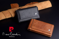 2016 Brand New Pierre Cardin Genuine Leather Hanging Style Belt Bag Case For IPhone 5 SE