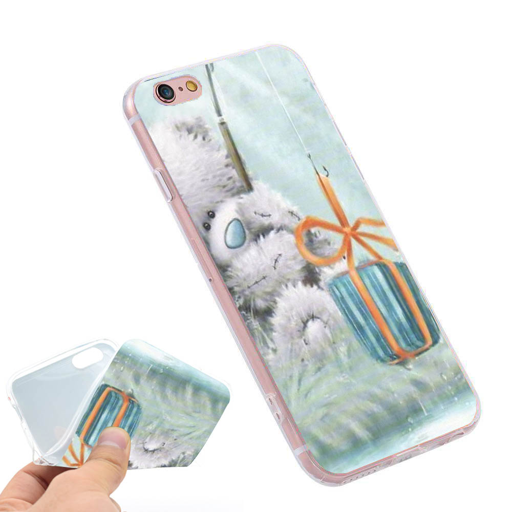 Tatty Teddy Me To You Bear Clear Soft TPU Slim Silicone Phone Case Cover for iPhone 4 4S 5C 5 SE 5S 7 6 6S Plus 4.7