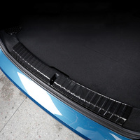 Car Rearguards Rear Bumper Trunk Inner Outer Sill Plate Protector Guard Trim Cover Sticker For BMW