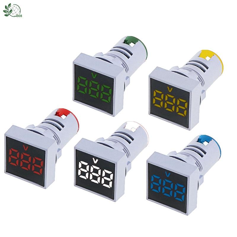 22MM Measuring Range AC 12-500V Voltmeter Square Panel LED Digital Voltage Meter Indicator Light Output Voltage AC22-500V