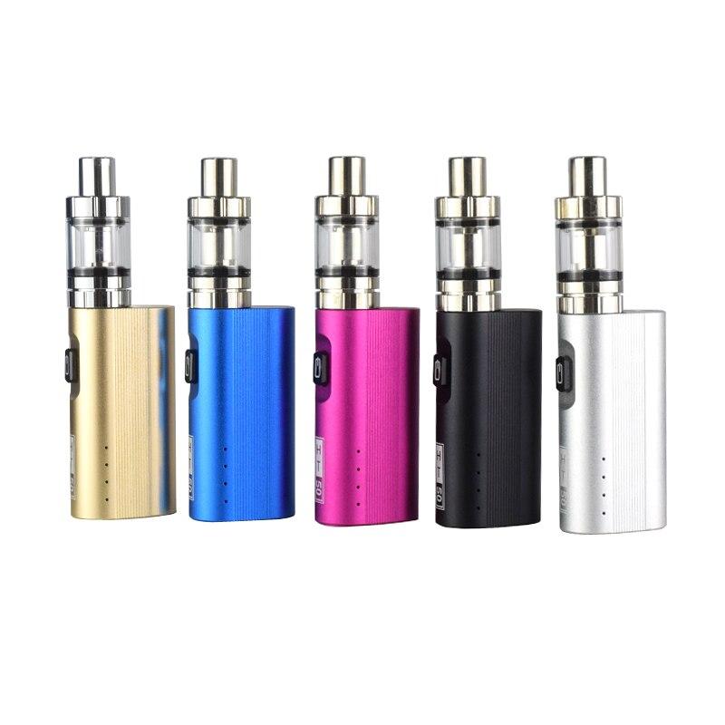 High quality HT 50W 2200mAh 50W Box Mod E-Cigarettes 2ml Atomizer Tank vape kit Vape pen Vaporizer Vapor Electronic Cigarette