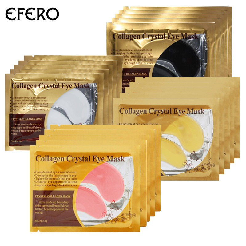24K Gold Collagen Eye Mask Face Mask Eye Patches for the Eyes Care Anti Aging Hydrogel Mask Dark Circles Eye Patch 20pair=40pcs stylish plastic eye mask color assorted