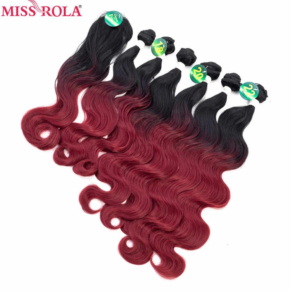 الآنسة رولا ملحقات أومبير الشعر حزم الشعر الاصطناعية الجسم موجة حزم t1b 6 قطع 18-22 'الشعر ينسج مع إغلاق مجانية