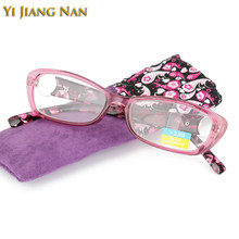 Yi Jiang Nan Brand Fashion Women Red Purple Reading Glasses Near Sight Presbyopic Glasses for Female(China)