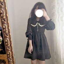 original design in japanese style with ruffle collar women dress vintage and spaghetti strap soft sister fashion summer dress