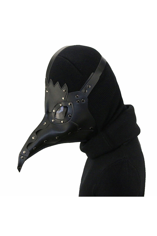 Adult Plague Doctor Mask Bird Beak Black Steampunk Punk Gothic Halloween Carnival Cosplay Mask
