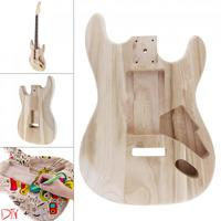 DIY Accessory Support Painting Maple Guitar Barrel Body Already Polished Punched for ST Electric Guitar