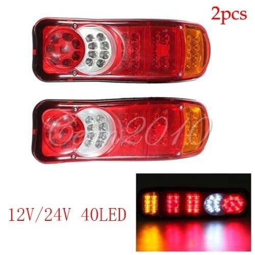 Par 12 V / 24 V 40 LED Trailer Truck Bus Van parar de cauda traseiro indicador luz reversa Van