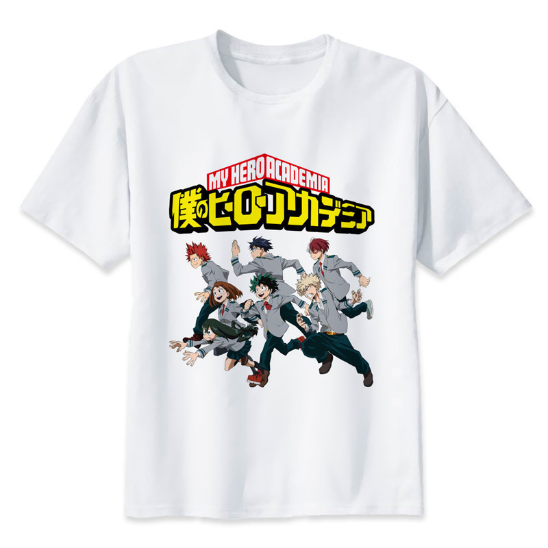 New Arrival My Hero Academia T Shirts Man Short Sleeve Clothing Boku No Hero Academia Funny Cartoon Print T-shirt For Man/woman 9