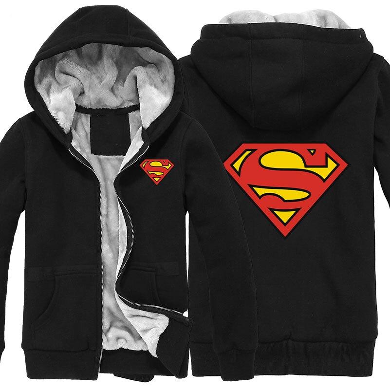 뜨거운 영웅 슈퍼맨 까마귀 재킷 애니메이션 겨울 코트 캐주얼 남성 의류 따뜻한 카디건 운동복 남자-에서후드티 & 스웨터부터 남성 의류 의  그룹 1