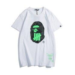 2019 Новое поступление Короткие повседневные трикотажные футболки с круглым вырезом и принтом а010