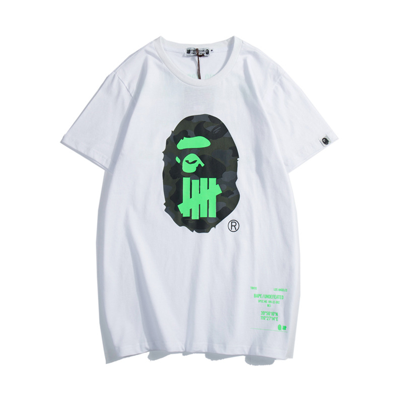 2019 New Arrival A Bathing Ape Short Casual O-neck Print Knitted Men&Women T-shirts A010