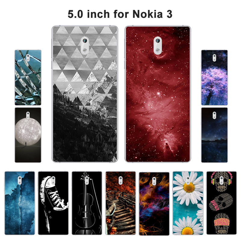 Silicone Cover For Nokia 3 Case Coque Scape Painted Soft TPU Shell For Fundas Nokia 3 Ultrathin 5.0 inch Mobile Phone Bag