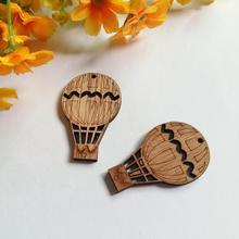 12 unids/lote DIY artesanías de boda globo de aire caliente virutas de madera decoración de boda de madera mariage vintage evento suministros para fiestas